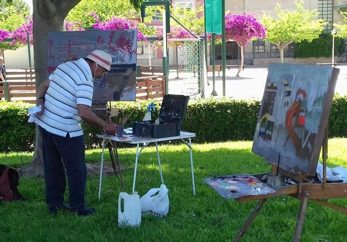 Els espais públics d'Almussafes acolliren el diumenge la Trobada de Pintors