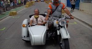 Cesar Gracia en sidecar