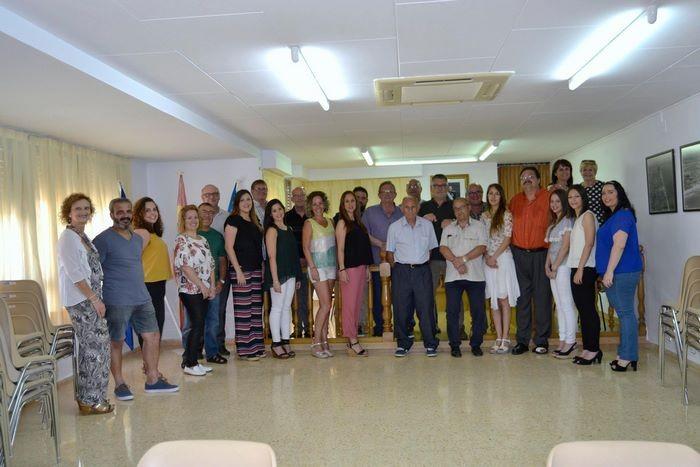 Visita de la Junta Local Fallera de Sueca a l'Ajuntament de El Perelló