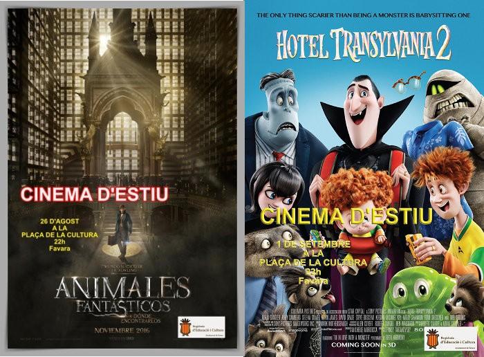 Cinema d'estiu i a la fresca a la plaça de la Cultura de Favara