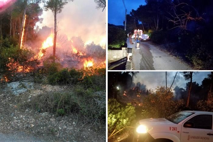Els bombers apunten que el darrer conat d'incedi forestal de Corbera va ser intencionat