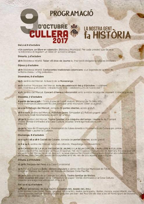 cullera-programacio-9-octubre-2017