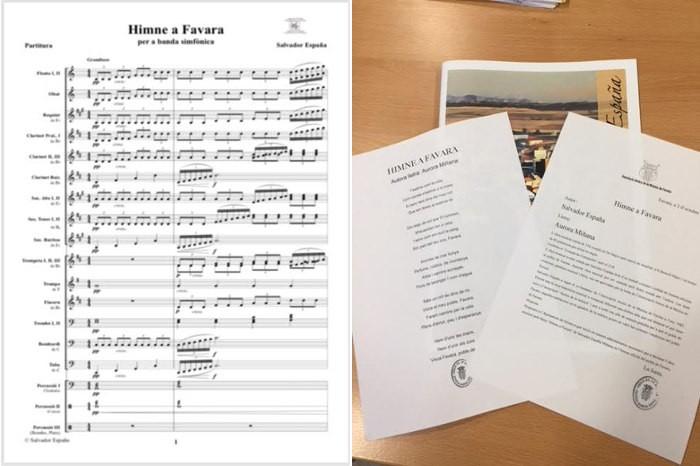 Demanen l'oficialitat de l'Himne a Favara de Salvador España Miñana