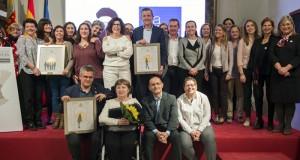 Jose Luis Mendoza, magistrat del jutjats de Sueca, rep el Premi Celia Amorós