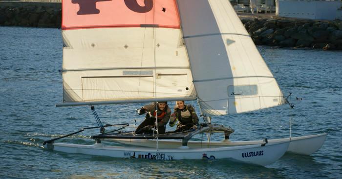 El Club Nàutic de Cullera també lidera la Setmana d'Alacant en Hobie Cat 16