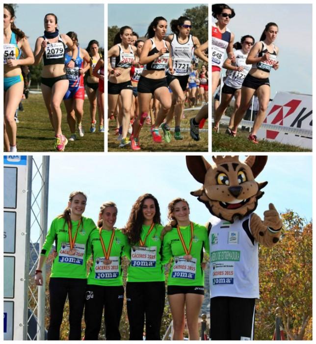Destacat paper de les atletes del CA Corriols al Campionat d'Espanya de Camp a Través