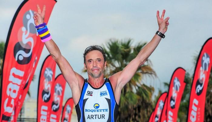 El veterà almussafeny, Artur Perera, campió autonòmic d'Ironman en la seua categoria