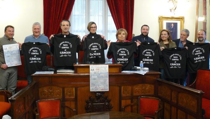 Sueca acollirà el 14 d'abril la XI Caminada Popular Solidària contra el Càncer