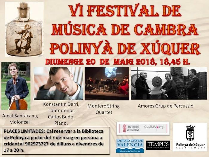 Polinyà de Xúquer posa la solfa exquisida del Festival de Música de Cambra el pròxim diumenge