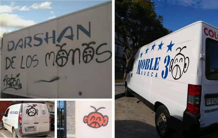 Identifiquen els presumptes autors de les últimes pintades en vehicles, senyals i habitatges de Sueca